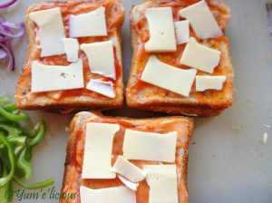 Bread pizza cheese