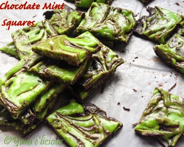 Chocolate Mint Squares