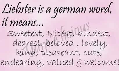Liebster Meaning