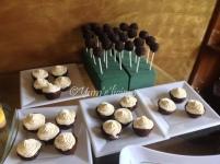 ferrero brownie bites and peanut butter-choco pops