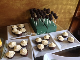 ferrero brownie bites and peanut butter-choco pops