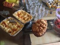 Veg Lasagna and bread rolls